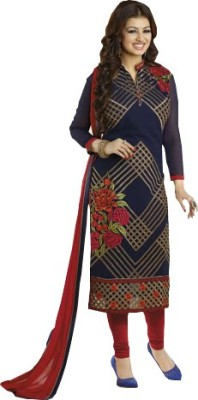 Exciting Deals Georgette Embroidered Semi-stitched Salwar Suit Dupatta Material