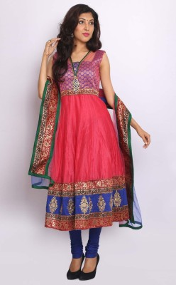 Sudarshan Silks Solid Anarkali Suit