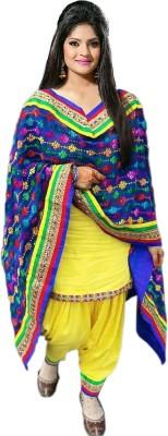 Fashion4masti Embroidered Kurti & Patiyala