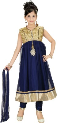 Trendyy Girls Self Design Kurta & Salwar