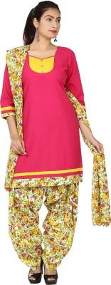 Nisba Fashions Self Design, Floral Print Kurta & Churidar