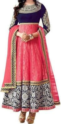 High Choice Creation Georgette Embroidered Semi-stitched Salwar Suit Dupatta Material