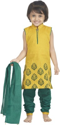Nut Khut Printed Kurta & Churidar