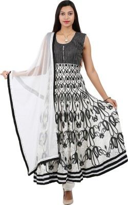 Jasmine Silk Striped Kurta & Churidar