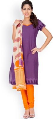 EthnicQueen Cotton Geometric Print, Solid Salwar Suit Dupatta Material