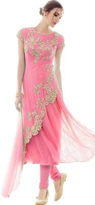 LongFashion Net Embroidered Semi-stitched Salwar Suit Dupatta Material