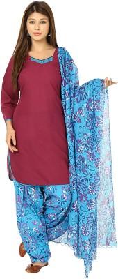 Nisba Fashions Solid, Floral Print Kurta & Churidar