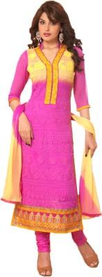 Vandv Shop Chiffon Embroidered Salwar Suit Dupatta Material