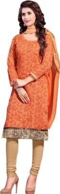 Nilkanth Communication Chanderi Self Design Salwar Suit Dupatta Material