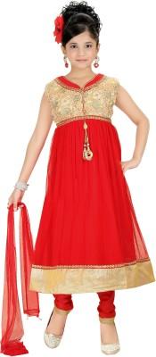 Trendyy Girls Self Design Kurta & Salwar