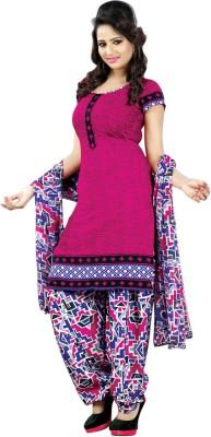 Ganga Fashion Crepe Printed Semi-stitched Salwar Suit Dupatta Material