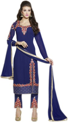 Glitzy Georgette Embroidered Semi-stitched Salwar Suit Dupatta Material