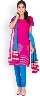 EthnicQueen Cotton Solid, Floral Print Salwar Suit Dupatta Material