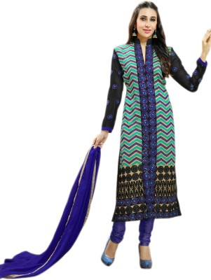 Glitzy Embroidered Kurta & Churidar