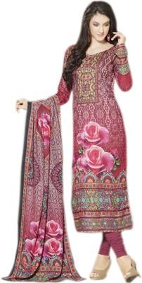 Glitzy Pashmina Printed Semi-stitched Salwar Suit Dupatta Material