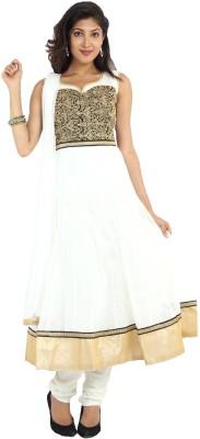 Sudarshan Silks Solid, Self Design Kurta & Churidar