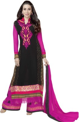 Glitzy Georgette Embroidered Semi-stitched Salwar Suit Dupatta Material