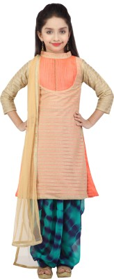 K&U Self Design Kurta & Salwar(Stitched)