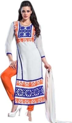 Fabliva Embroidered Kurti & Salwar