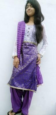 Naz Collections Self Design Kurta & Salwar