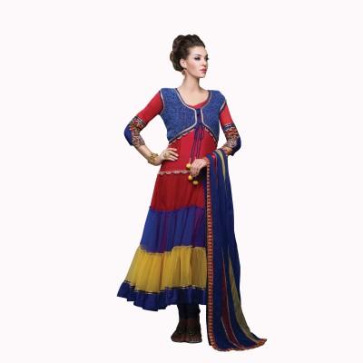 Urjita Creations Striped Anarkali