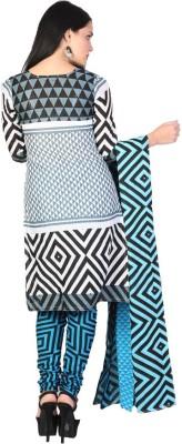 EthnicQueen Cotton Geometric Print Salwar Suit Dupatta Material