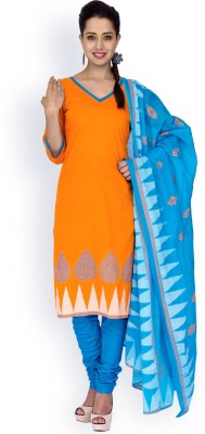 EthnicQueen Cotton Solid, Floral Print, Geometric Print Salwar Suit Dupatta Material