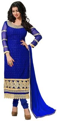 FashionsBazaar Georgette Embroidered Semi-stitched Salwar Suit Dupatta Material