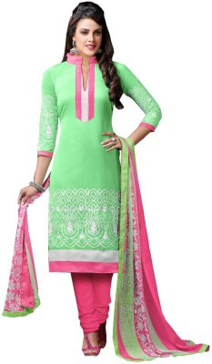 Exciting Deals Chanderi Embroidered Semi-stitched Salwar Suit Dupatta Material
