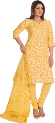 Salwar Studio Cotton Floral Print, Printed Salwar Suit Dupatta Material