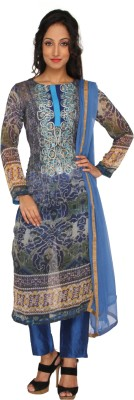 Salwar Studio Printed, Self Design