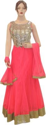Veena Saree Embroidered Kurti & Leggings