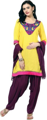 Jaipur Kurti Embroidered, Solid Kurta & Churidar