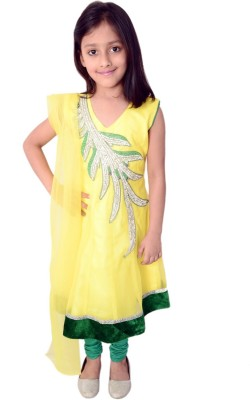 Arshia Fashions Embroidered Kurta & Leggings(Stitched)