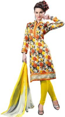 Melluha Fashion Georgette Printed Salwar Suit Dupatta Material