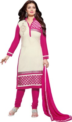Zombom Cotton Embroidered Salwar Suit Dupatta Material