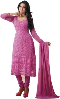 Khantil Georgette Self Design Semi-stitched Salwar Suit Dupatta Material
