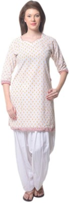 ckarry chikan Cotton Solid Salwar
