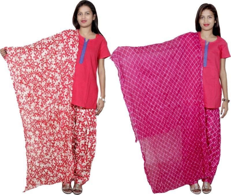 Tullis Cotton Floral Print, Checkered Salwar