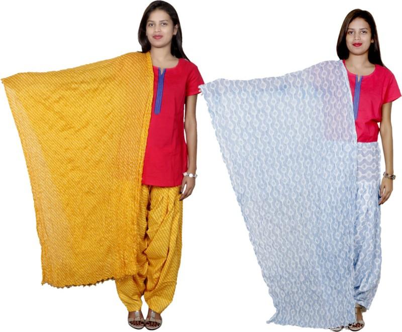 Tullis Cotton Printed, Striped Salwar