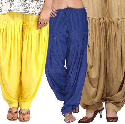 Blu Cotton Solid Salwar