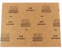 3M 518 WOD SHEETS Silicon Carbide Sandpaper(150 Pack of 50)
