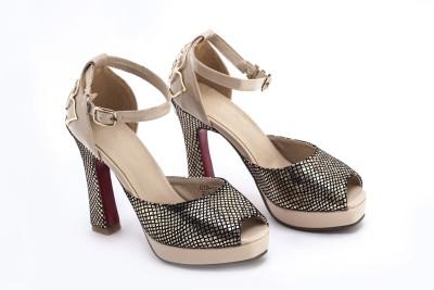 BELLO PEDE Women Beige Heels