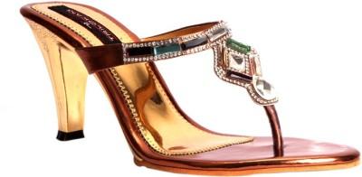 Trilokani Sophia Heels Women Brown Heels