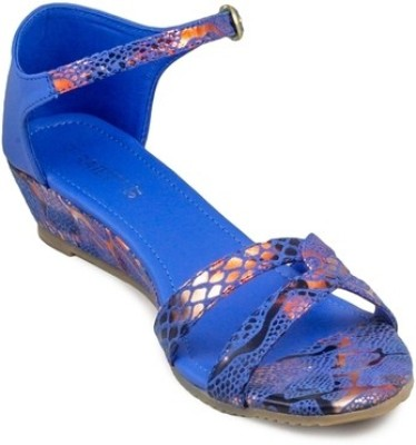 Gaiety Women Blue Wedges