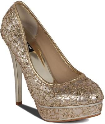 Kielz Women Gold Heels