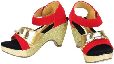 Royal Indian Exposures Women Red Wedges