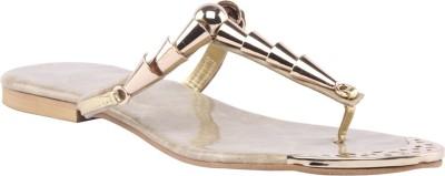 Shibha Footwear Women Beige, Gold Flats
