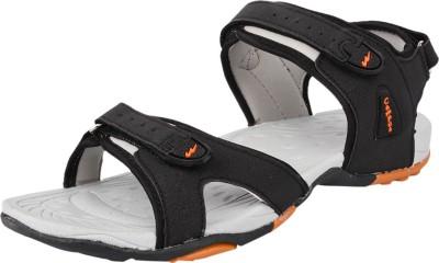 Campus Men Black, Orange Sandals