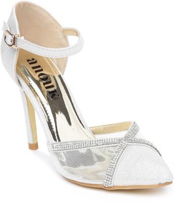 Anouk Women White Heels